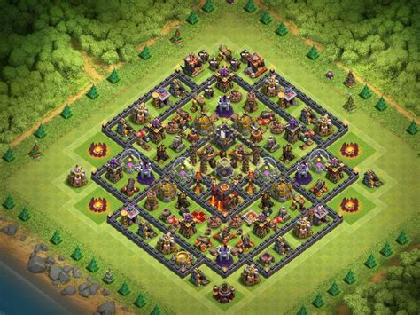 th10 trophy base town hall 10 trophy pushwar base anti golem anti town hall 10 trophy base 2017 attackia clash of clans