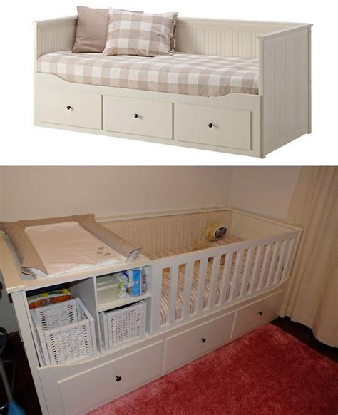 Sofa Bed For Baby Nursery Transform Hemnes Bed Of Ikea Into A Baby Bed Cod 500