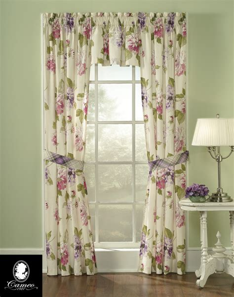 floral draperies spring blossom pure cotton floral panel set curtainworks com