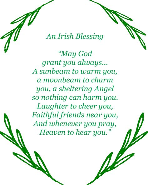 printable irish quotes irish blessing printable free printable saints and