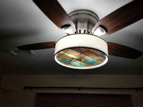 stained glass ceiling fan ceiling fan light shades image john robinson house decor