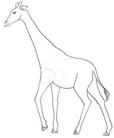 giraffe template giraffe outline coloring pages