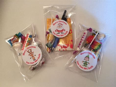 gift for 12 x teacher pupil christmas sweets gift loot bags