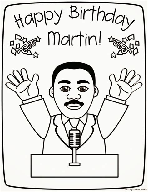 Teacher Laura Mlk Coloring Sheet Coloring Home Free Dr King Coloring Pages Pdf