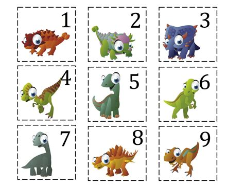 printable dinosaur numbers ten terrible dinosaurs printable updated added more