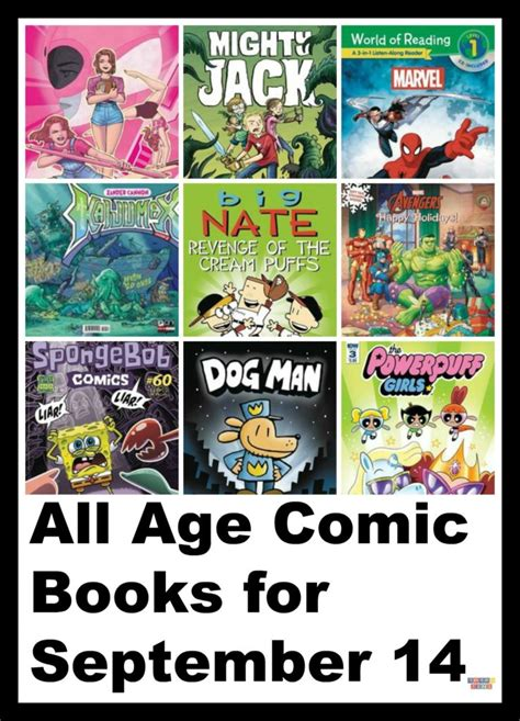 age books all age comic books for september 14