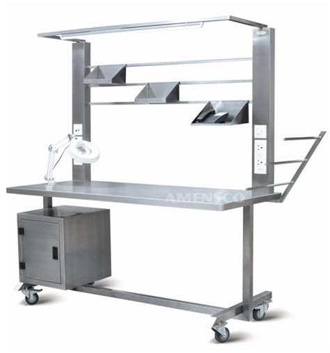 packing table with shelves amensco surgical support systems modular operation