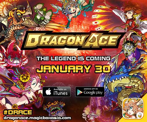 dragon ace anime mobile card game launching  sea  month mmo culture