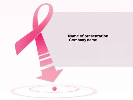 breast cancer ribbon presentation template for powerpoint