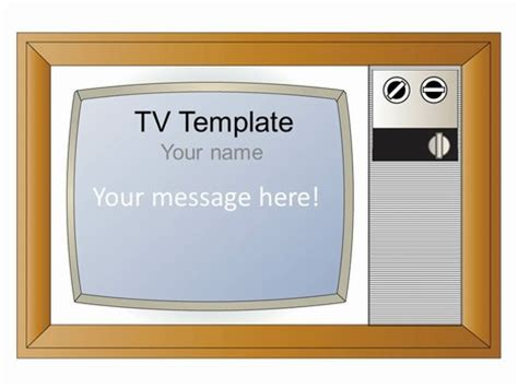 show powerpoint template free standing televison set graphics