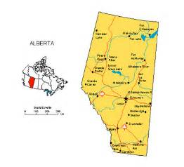 cities in alberta canada map
