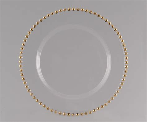 glass beaded charger plates price 6 50 quantity