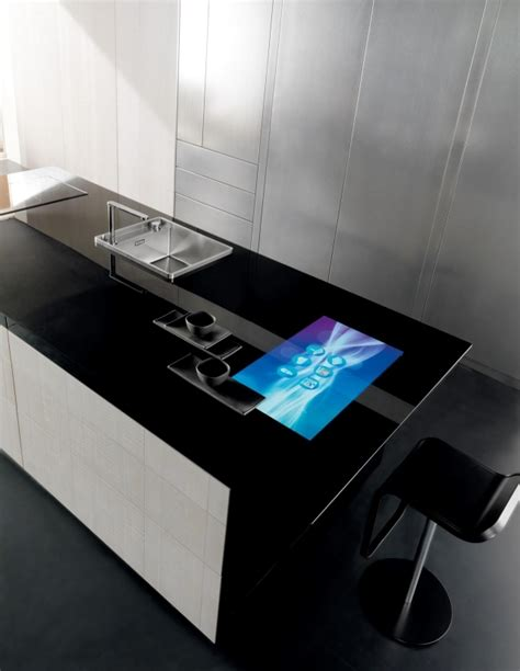 Kitchen Island Counter Stools by Toncellis Carbon Fiber High Tech Kitchen And Liquid Metal