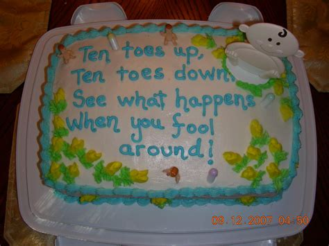 Baby Shower Cake Sayings by Quotes For Baby Cakes Quotesgram