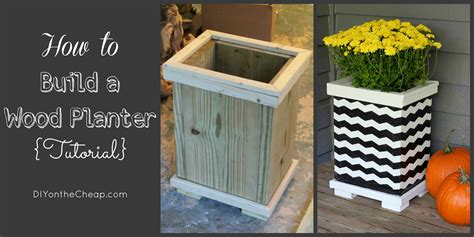 Building A Planter by How To Build A Wood Planter Tutorial Erin Spain