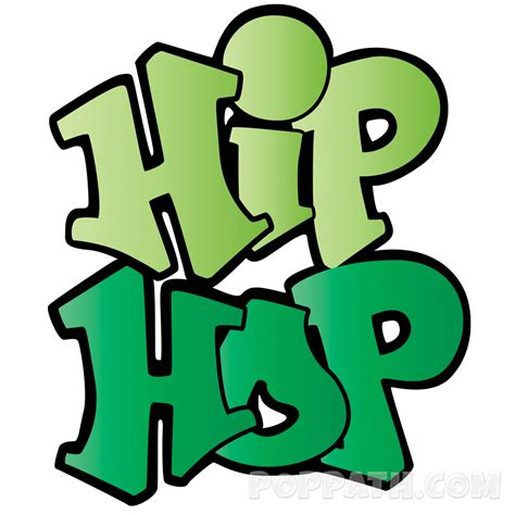 hip hop clipart how to draw graffiti word hiphop pop path