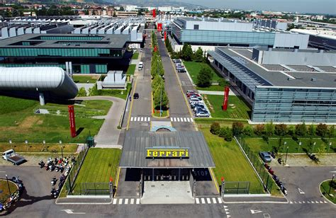 ferrari factory sky view inside maranello ferrari s green and responsible factory