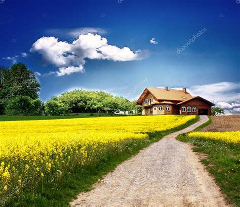 landscape with houses country landscape with new house stock photo 169 wdgphoto 5214620