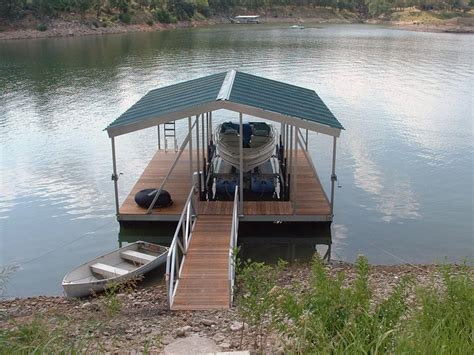 how to build a boat dock roof wahoo single slip wide side aluminum floating boat dock