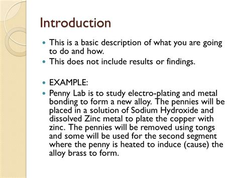 how to write an introduction to a scientific research paper introduction of a lab report wolf