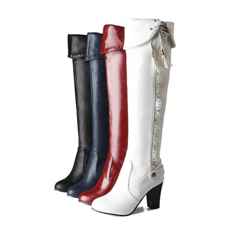 winter boots new 2016 big size 34 43 knee high boots