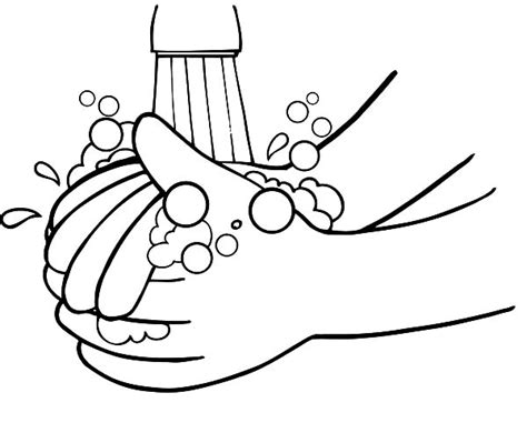 hand washing coloring page coloring page for kids