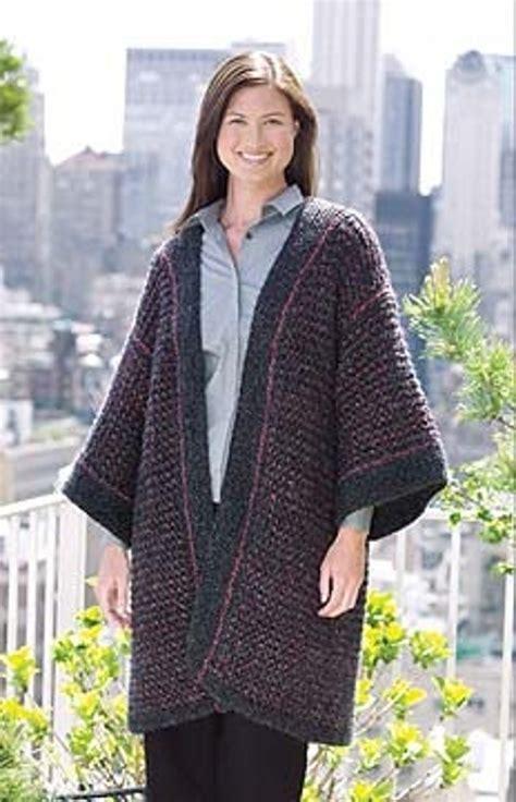 knitting pattern kimono cardigan knitted kimono cardigan in lion brand homespun 20132a
