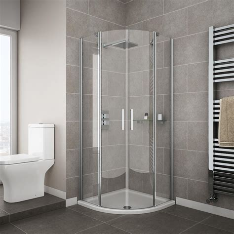 Apollo Frameless Double Door Quadrant Enclosure Showers Cubicles In Small Bathroom