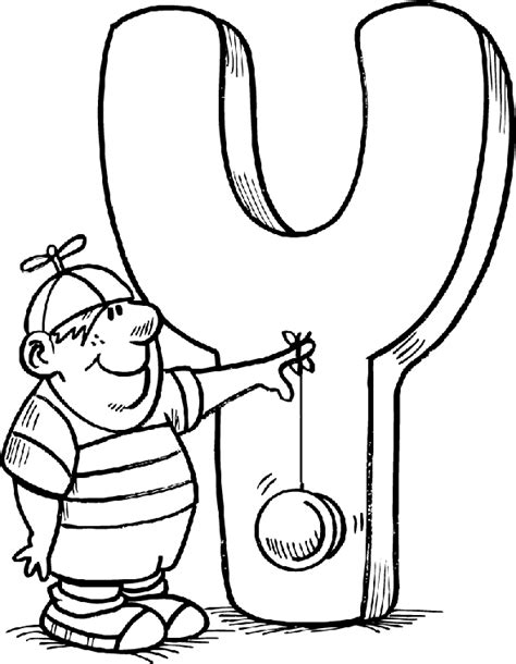 Free Alphabet Coloring Pages Coloring Sheets For Letter Y Yellow
