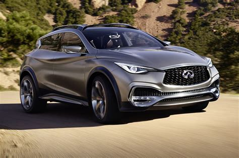 infiniti qx30 compact crossover concept takes geneva stage