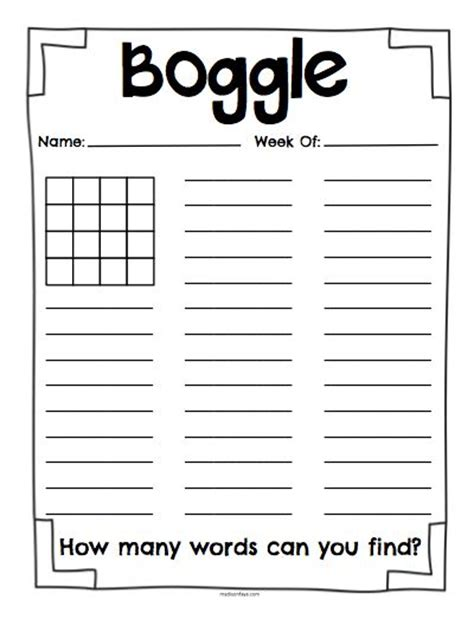 boggle printable template free printable boggle letters boards boggle
