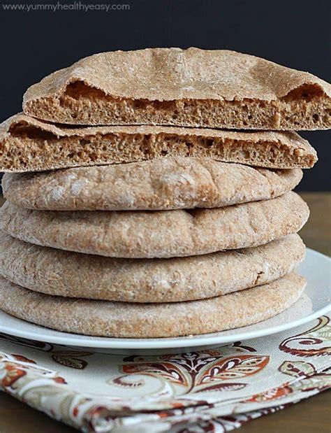 Pita Handmade - whole wheat pita bread healthy easy