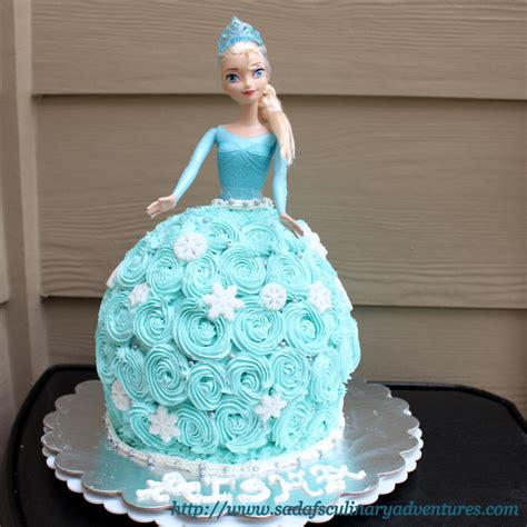 frozen doll mold elsa doll cake my culinary adventures