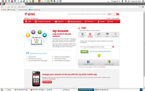 www airtel in my account section 301 moved permanently