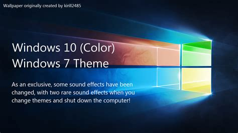 theme windows 10 color windows 10 color windows 7 theme by thewolfbunny on