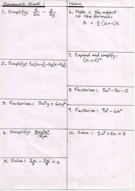 printable handwriting worksheets ks3 additional maths gcse papers bbc homework help ks3