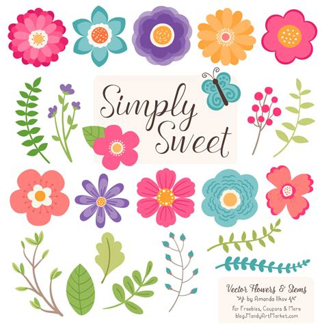 flower clipart crayon box flower clipart vectors