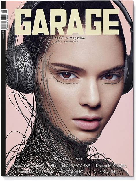 To Be A Magazine Cover Model by Kendall Jenner And Cara Delevinge Transformed By Computer