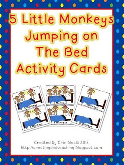 5 little monkeys jumping on the bed song 5 little monkeys jumping on the bed activity cards my