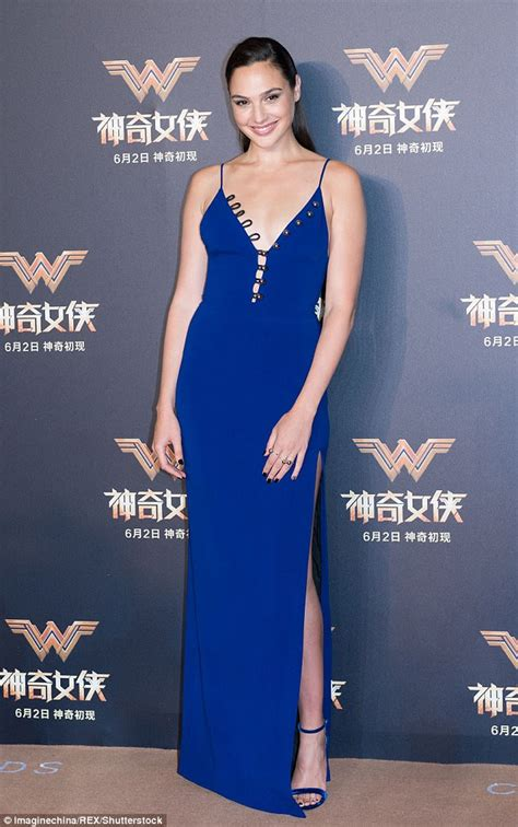 who is the gal in the blue dress in the viagra commercial gal gadot looks sexy at the wonder woman premiere in