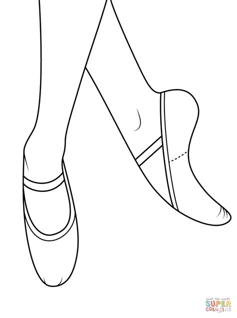 ballerina slippers coloring pages ballet shoes coloring page free printable coloring pages