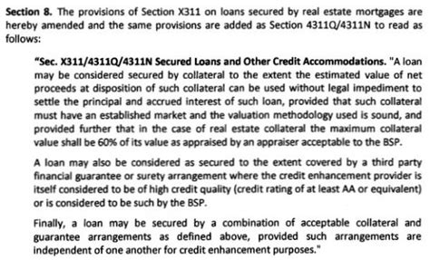 housing loan without collateral philippines is it true that the maximum loanable amount for new housing loans is just 60 of the