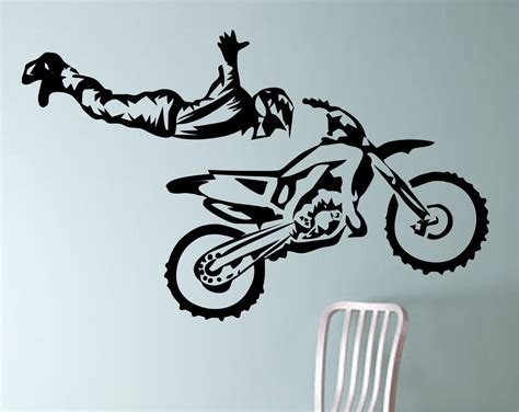 motocross bike stickers dirt bike biker superman trick motorcycle vinyl wall decal