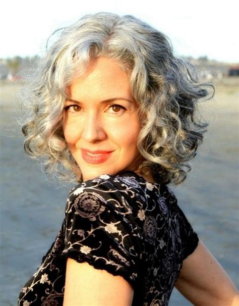 fine graycoming in of short bob hairstyles for 70 yr old best 25 curly gray hair ideas on pinterest why grey