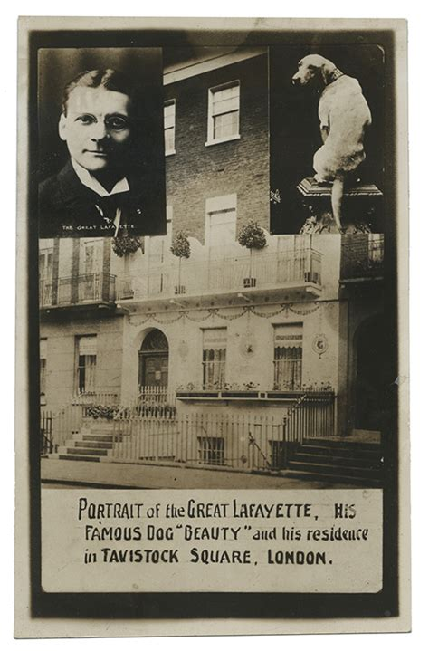 the dog house of lafayette the great lafayette rppc portrait of lafayette and his famo