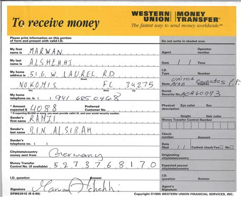 Western Union Receipt Template by Searchitfast Web Western Union Money Transfer Receipt