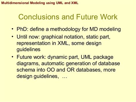 graphical design notation definition multidimensional modeling using uml and xml