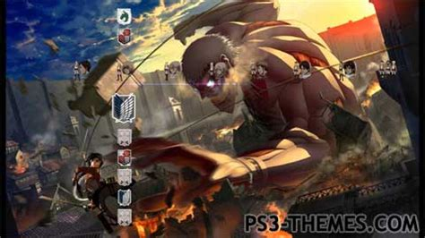 theme psp attack on titan ps3 themes 187 attack on titan