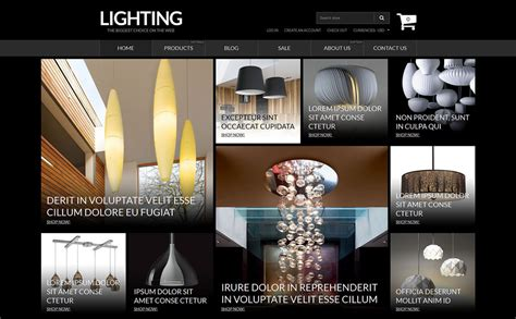 shopify photography themes lighting electricity responsive shopify theme 53115