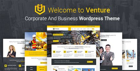 venture corporate and business wordpress theme by